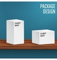 White Boxes on Table vector image
