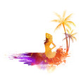 summer party watercolor background vector image