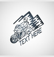 touring motorcycle club logo vector image