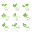 Ecology icon set Eco-icons vector image