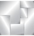 old riveted sheet metal vector image