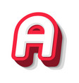 3d bold funny letter a heavy type for modern vector image