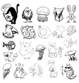 Animals sketch vector | Price: 1 Credit (USD $1)