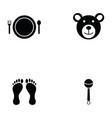 baby icon set vector image vector image