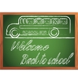 back to school written on blackboard vector image