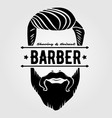 barbershop vintage label badge or emblem vector image