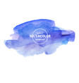 beautiful blue watercolor texture on a white vector image vector image