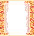 begonia flower picotee sunburst banner card border vector image vector image