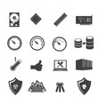 big data icon set system infrastructure vector image vector image