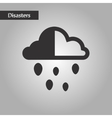 black and white style cloud hail vector image