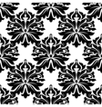 Black classic damask seamless pattern vector image vector image