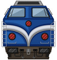 blue train design on white background vector image vector image