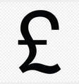 british pound sign vector image vector image