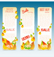 business natural seasonal vertical banners vector image