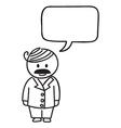 Businessman Speech bubble vector image vector image