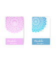 card with mandala decorative elements vector image vector image