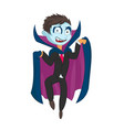 cartoon dracula kid on isolated vector image vector image