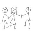cartoon of heterosexual couple walking and vector image