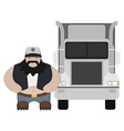Cartoon style truck driver standing No outline vector image