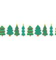 christmas trees seamless horizontal repeating vector image
