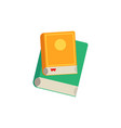 closed books with colorful hardcover and paper vector image vector image