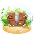 Closed treasure chest cartoon