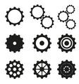 cogwheels set icons vector image