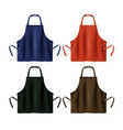 colored blank aprons vector image vector image
