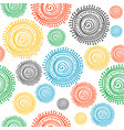 colorful stylized ethnic sun seamless vector image vector image