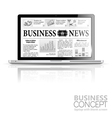 Concept - digital news laptop with business news vector | Price: 1 Credit (USD $1)
