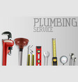 construction repair tools set vector image vector image