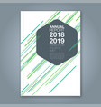 cover annual report 15 vector image vector image