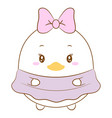 cute daisy duck drawing vector image vector image