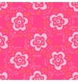 Cute pink Seamless floral pattern vector image vector image
