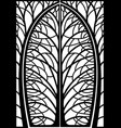 decorative frame forged wicket branches vector image