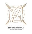esoteric symbols thin line vector image