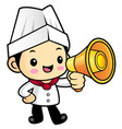 executive chef character apprised the news into a vector image vector image