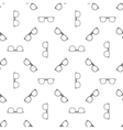 Eyeglasses seamless pattern vector image