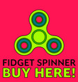 fidget spinner stress relieving toy trendy hand vector image vector image