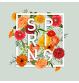 Floral Spring Graphic Design vector image vector image