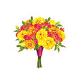 flowers roses isolated on white background vector image