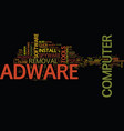 free adware removal text background word cloud vector image vector image