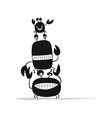 funny friends crabs black silhouette for your vector image