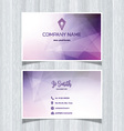 geometric business card design 0505 vector image vector image