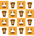 graphic milk cow in pattern vector image vector image