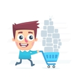 Great shopping vector image