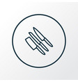 knife set icon line symbol premium quality vector image