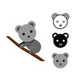 koala bear in flat and icon vector image vector image
