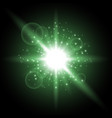 light circle with stardust green color vector image vector image