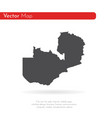 map zambia isolated black on vector image vector image